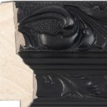 B47 - 75mm  Wide black ornate picture frame