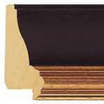 Ref B61 - 64mm wide black & gold picture frame